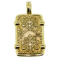 SOLD #9514 Shogun Nibu Kin Pendant; Please Explore Our Japanese Pendants For Similar Items.
