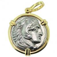 SOLD Alexander the Great Tetradrachm Pendant; Please Explore Our Greek Pendants For Similar Items.