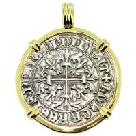 SOLD King Roberto Gigliato Pendant; Please Explore Our Medieval Pendants For Similar Items.