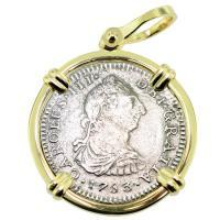 SOLD El Cazador Shipwreck 1 Real Pendant; Please Explore Our Spanish Treasure Pendants For Similar Items.
