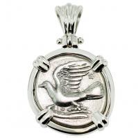SOLD Sikyon Dove Triobol Pendant; Please Explore Our Greek Pendants For Similar Items.
