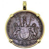 #9574 Admiral Gardner Shipwreck Coin Pendant