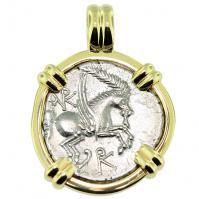 #9592 Pegasus & Dionysus Didrachm Pendant