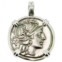 #9595 Roma and Victory Denarius Pendant
