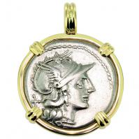 SOLD Roma and Victory Denarius Pendant; Please Explore Our Roman Pendants For Similar Items.