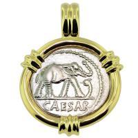 SOLD Julius Caesar Denarius Pendant; Please Explore Our Roman Pendants For Similar Items.
