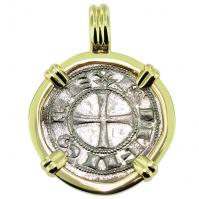 SOLD King Alfonso Bi-Dinero Pendant; Please Explore Our Medieval Pendants For Similar Items.