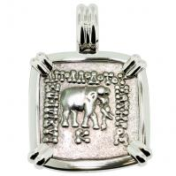 SOLD Elephant and Bull Drachm Pendant; Please Explore Our Greek Pendants For Similar Items.