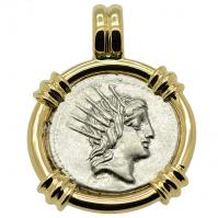 SOLD Sol & Moon Denarius Pendant; Please Explore Our Roman Pendants For Similar Items.
