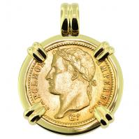 SOLD Napoleon 20 Francs Pendant; Please Explore Our Gold Coin Pendants For Similar Items.