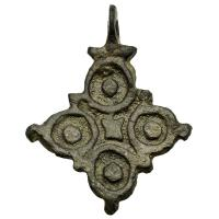 Byzantine Empire 8th-11th century, bronze cross pendant.
