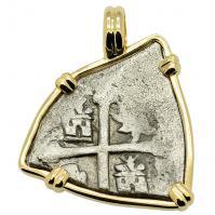 SOLD Spanish 1715 Fleet Shipwreck 1 Real Pendant; Please Explore our Spanish Treasure Pendants for Similar Items.
