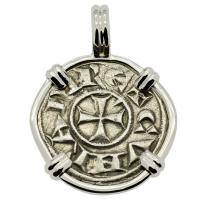 SOLD Crusader Cross Denaro Pendant; Please Explore Our Medieval Pendants For Similar Items.