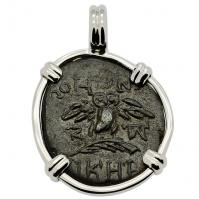 SOLD Owl and Athena Pendant; Please Explore Our Greek Pendants For Similar Items.