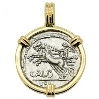 SOLD Victory Chariot & Roma Denarius Pendant; Please Explore Our Roman Pendants For Similar Items.