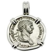 Emperor Trajan Denarius Pendant