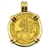 SOLD Akerendam Shipwreck Ducat Pendant; Please Explore Our Gold Coin Pendants For Similar Items.