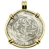 SOLD 16th Century Spanish Shipwreck 4 Reales Pendant; Please Explore Our Spanish Treasure Pendants For Similar Items.