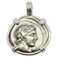 SOLD Apollo & Horseman Denarius Pendant; Please Explore Our Roman Pendants For Similar Items.