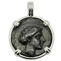 SOLD Larissa & Horse Dichalkon Pendant; Please Explore Our Greek Pendants For Similar Items.