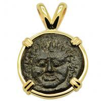 SOLD Gorgon and Owl Tetras Pendant; Please Explore Our Greek Pendants For Similar Items.