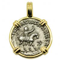 SOLD King Azes II & Zeus Drachm Pendant; Please Explore Our Greek Pendants For Similar Items.