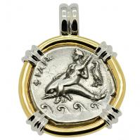 SOLD Boy on Dolphin Nomos Pendant; Please Explore Our Greek Pendants For Similar Items.