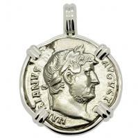 SOLD Emperor Hadrian Denarius Pendant; Please Explore Our Roman Pendants For Similar Items.