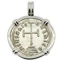 SOLD Constantine VI Cross Miliaresion Pendant; Please Explore Our Roman Pendants For Similar Items.