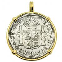 SOLD El Cazador Shipwreck 2 Reales Pendant Please Explore Our Spanish Treasure Pendants For Similar Items.