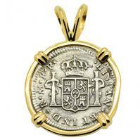 SOLD El Cazador Shipwreck Half Real Pendant; Please Explore Our Spanish Treasure Pendants For Similar Items.
