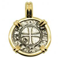 Crusader Cross Denier Pendant