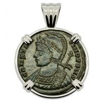 SOLD Constantinopolis Follis Pendant; Please Explore Our Roman Pendants For Similar Items.