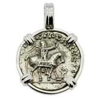 King Azes II and Zeus Drachm Pendant
