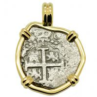 SOLD Spanish 1715 Fleet Shipwreck 1 Real Pendant; Please Explore our Spanish Treasure Pendants for Similar Items.