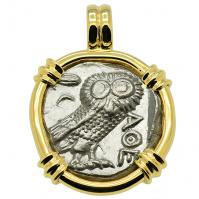 SOLD Owl and Athena Tetradrachm Pendant; Please Explore Our Greek Pendants For Similar Items.