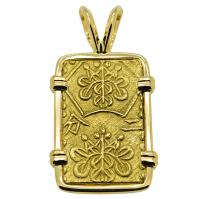 SOLD Shogun Nibu Kin Pendant; Please Explore Our Japanese Pendants For Similar Items.
