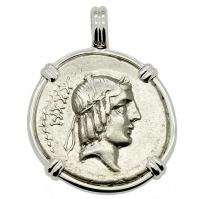 Apollo and Horseman Denarius Pendant