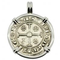 SOLD King Hugh IV Crusader Gros Grand Pendant; Please Explore Our European Pendants For Similar Items.
