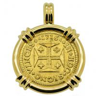SOLD Portuguese 1000 Reis Pendant; Please Explore Our Gold Coin Pendants For Similar Items.