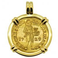 SOLD Vliegenthart Shipwreck Ducat Pendant; Please Explore Our Gold Coin Pendants For Similar Items.