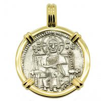 SOLD Venetian Jesus Christ Grosso Pendant; Please Explore Our Medieval Category For Similar Items.