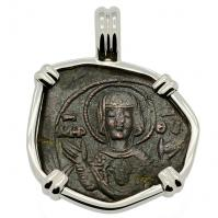 SOLD Virgin Mary Tetarteron Pendant; Please Explore Our Byzantine Category For Similar Items.