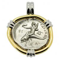 SOLD Boy on Dolphin Nomos Pendant. Please Explore Our Greek Pendants For Similar Items.