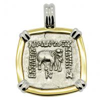 Elephant and Bull Drachm Pendant