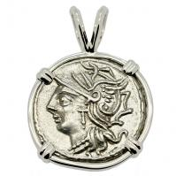 Roma and Saturn Denarius Pendant