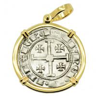 SOLD King Henry II Crusader Gros Grand Pendant; Please Explore Our European Pendants For Similar Items.