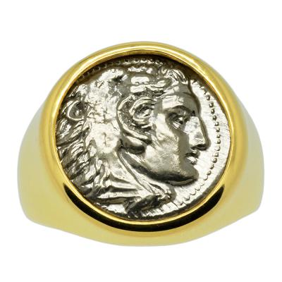 SOLD Alexander the Great Drachm Men's Ring. Please Explore Our Men's Rings For Similar Items.