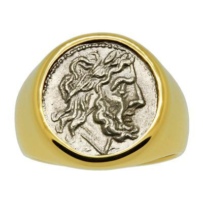Roman 211-195 BC, Jupiter Victoriatus in gold men's ring