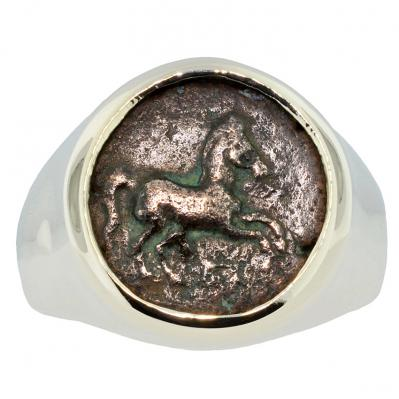 Greek Horse Men's Ring